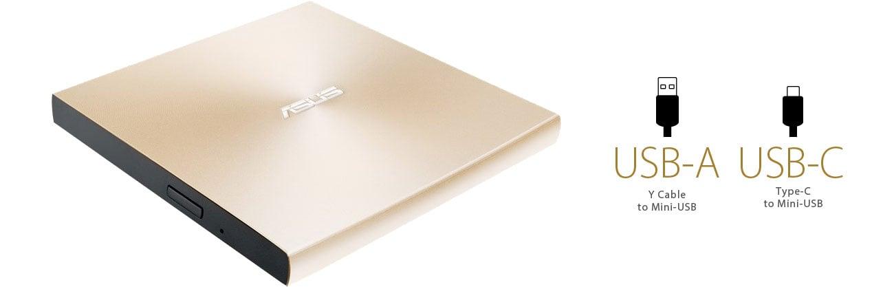 ASUS ZenDrive U9M Dwa interfejsy, USB-A, USB-C
