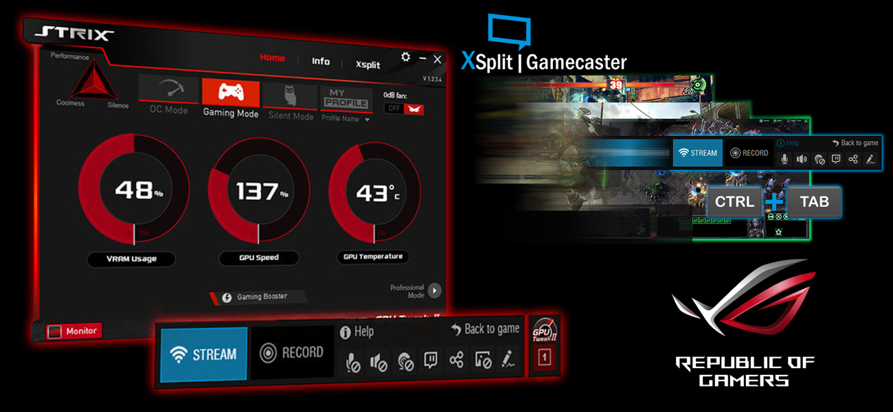 GPU Tweak II z XSplit Gamecaster