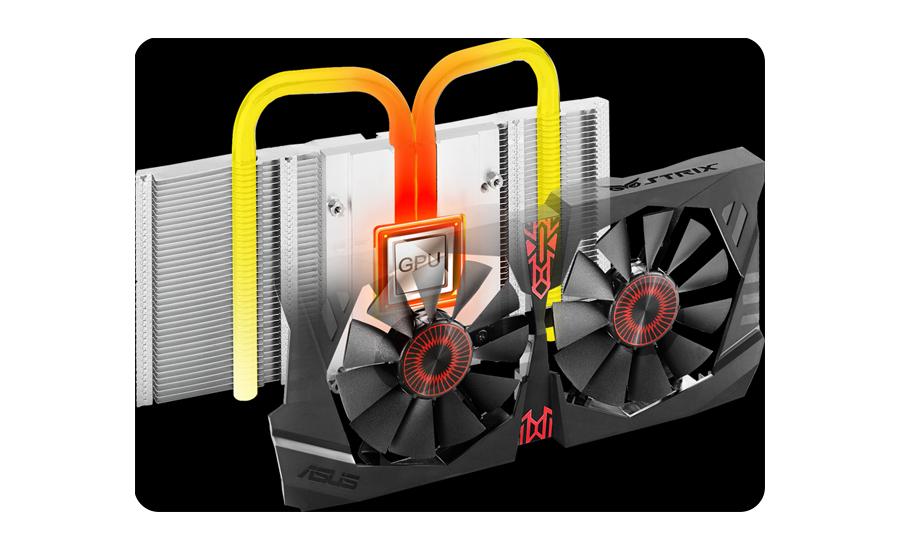 GeForce GTX 950 Strix chłodzenie