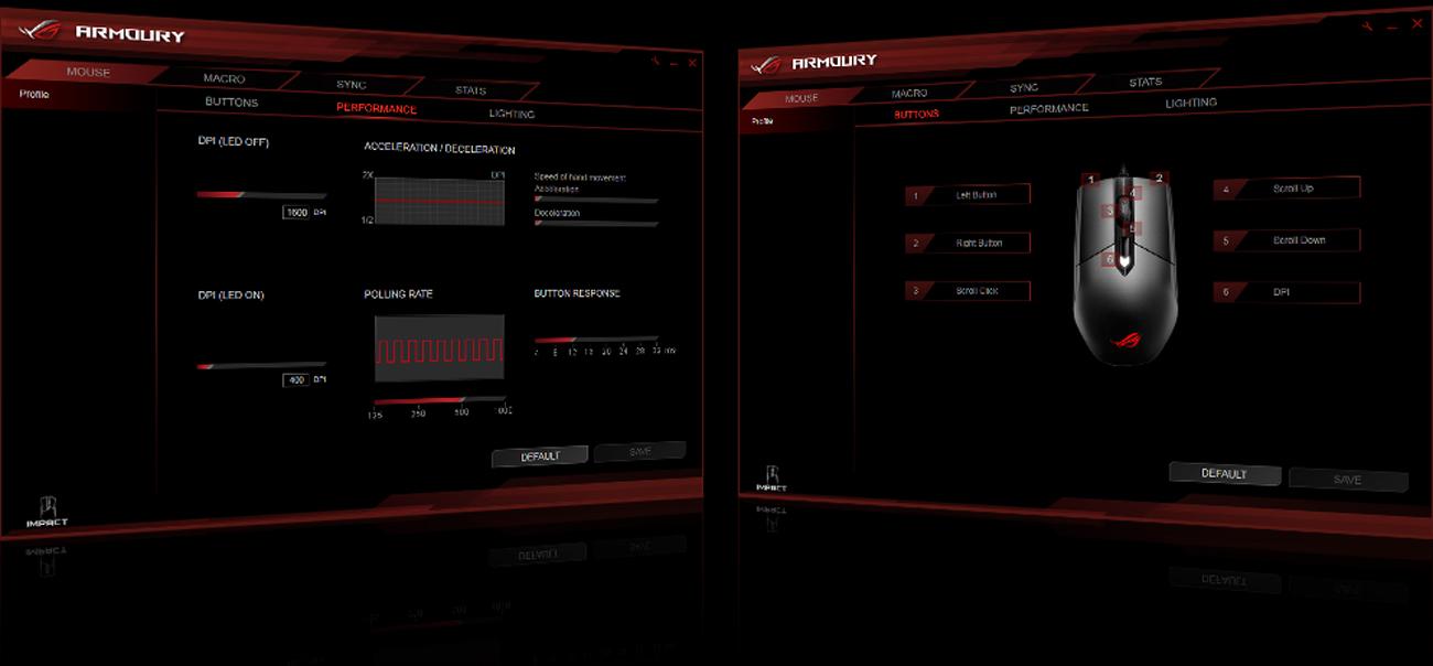 ASUS ROG Strix Impact Aplikacja ROG Armoury