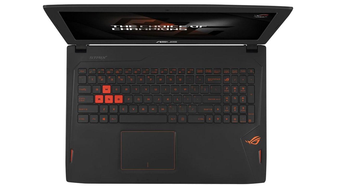 ROG Strix GL502VM podświetlana klawiatura