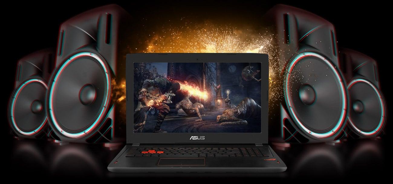 Laptop ASUS ROG Strix GL502VS i7 audio by icepower studyjna jakość dźwięku