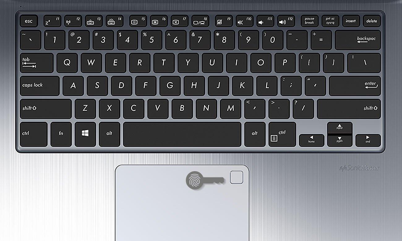 ASUS VivoBook Flip 14 czytnik linii papilarnych