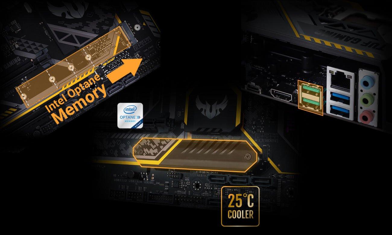 ASUS TUF Z370-PLUS GAMING M.2 32 Gb/s Intel Optane USB 3.1 Gen2 USB-C