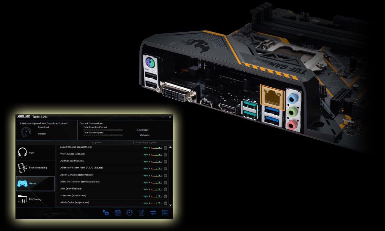 ASUS TUF Z370-PLUS GAMING Intel Ethernet Turbo LAN cFosSpeed