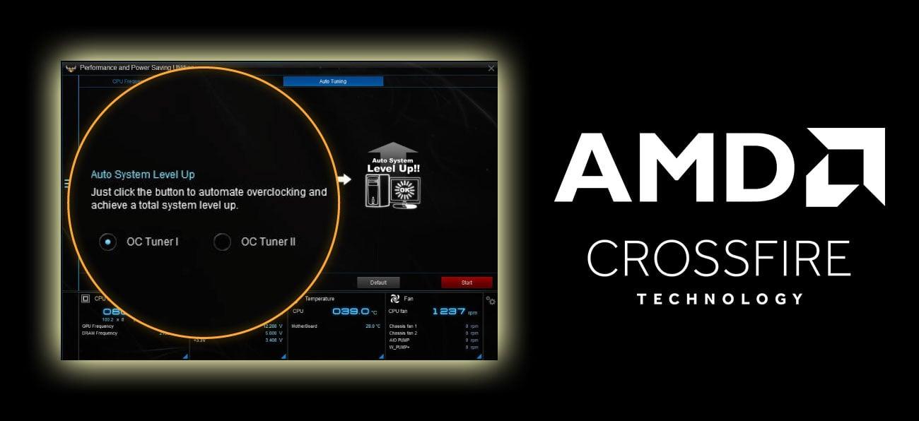 ASUS TUF Z370-PLUS GAMING OC Tuner OptiMem AMD CrossFire
