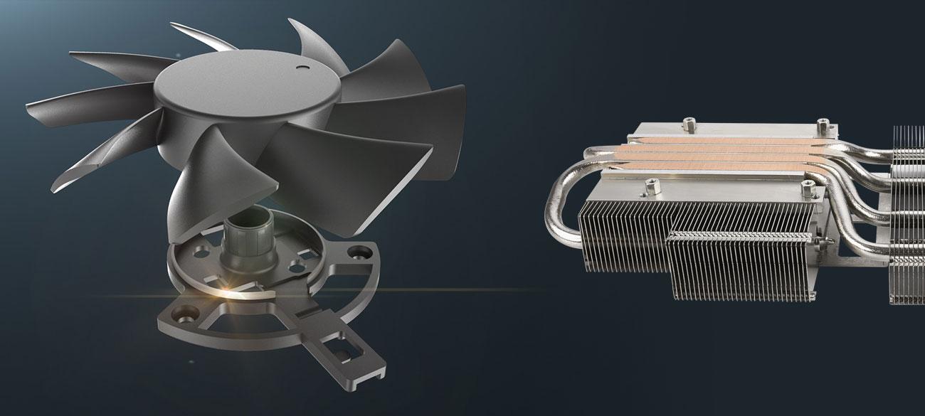ASUS Radeon RX 5700 TUF OC - Chłodzenie