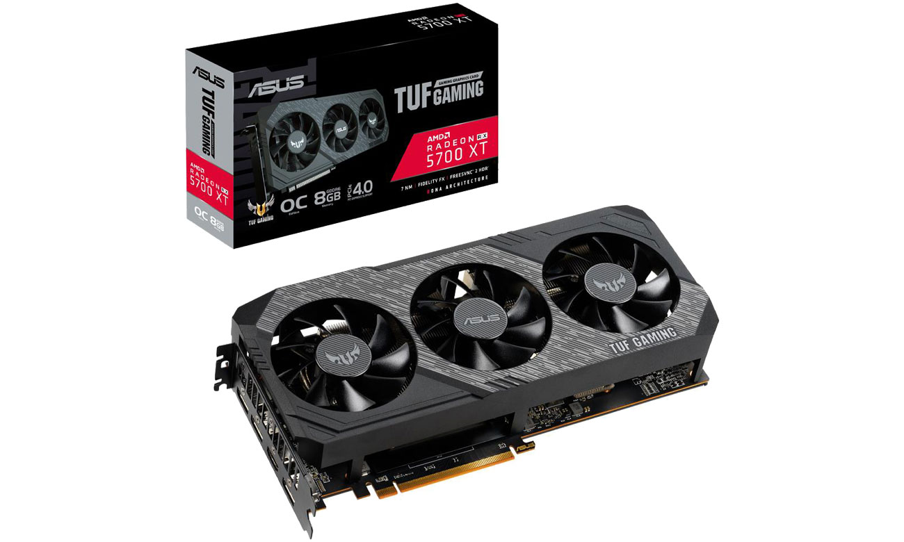 Karta graficzna AMD ASUS Radeon RX 5700 XT TUF OC 8GB GDDR6 TUF 3-RX5700XT-O8G-GAMING