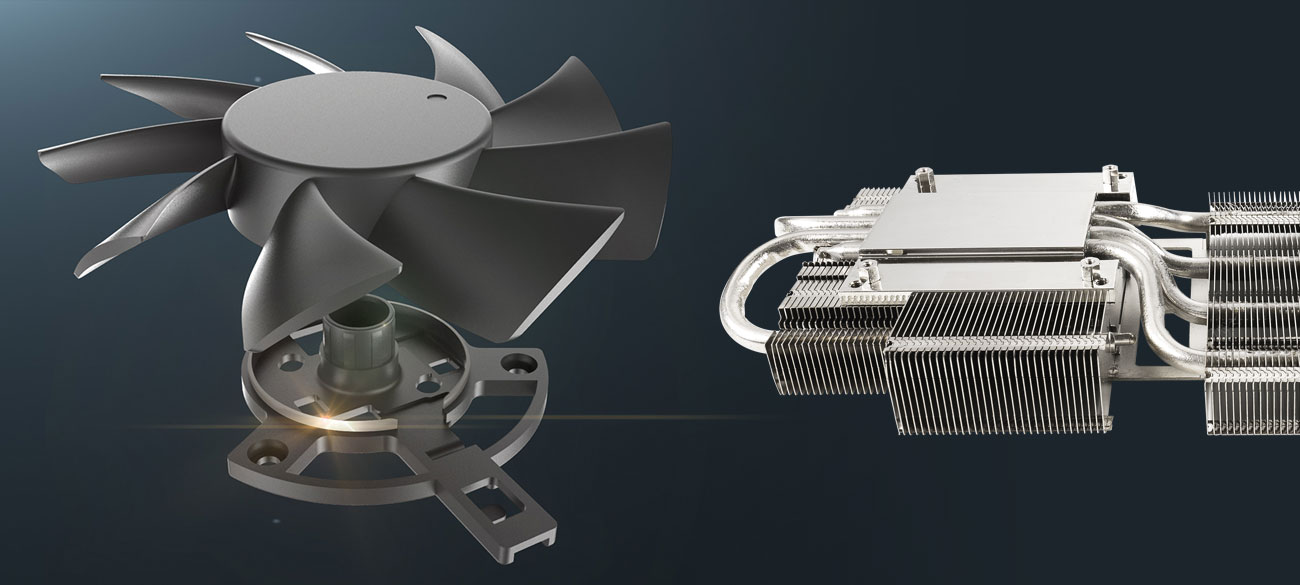 ASUS Radeon RX 5700 XT TUF OC - Chłodzenie