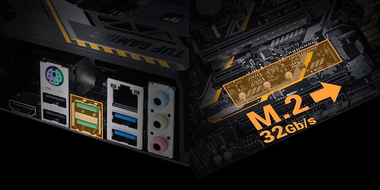 ASUS TUF B350M-PLUS GAMING Najwyższe prędkości transferu danych