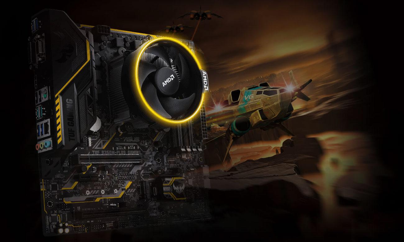 ASUS TUF B350M-PLUS GAMING Personalizowane oświetlenie RGB LED