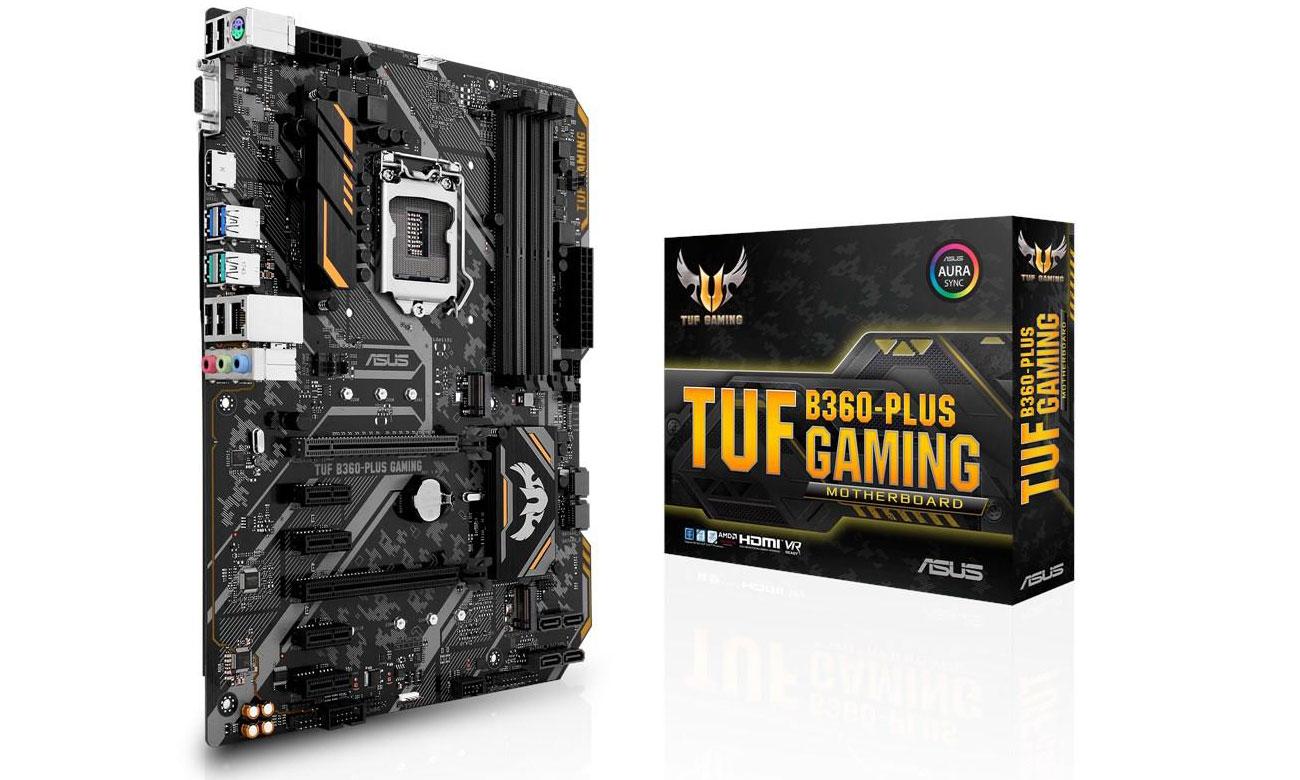 ASUS TUF B360-Plus Gaming ASUS OptiMem Udoskonalona stabilność pamięci DDR4