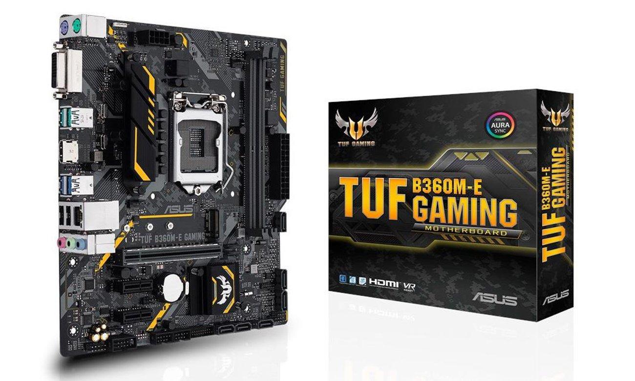 ASUS TUF B360M-E Gaming ASUS OptiMem Udoskonalona stabilność pamięci DDR4