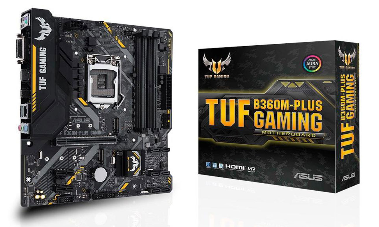 ASUS TUF B360M-Plus Gaming ASUS OptiMem Udoskonalona stabilność pamięci DDR4