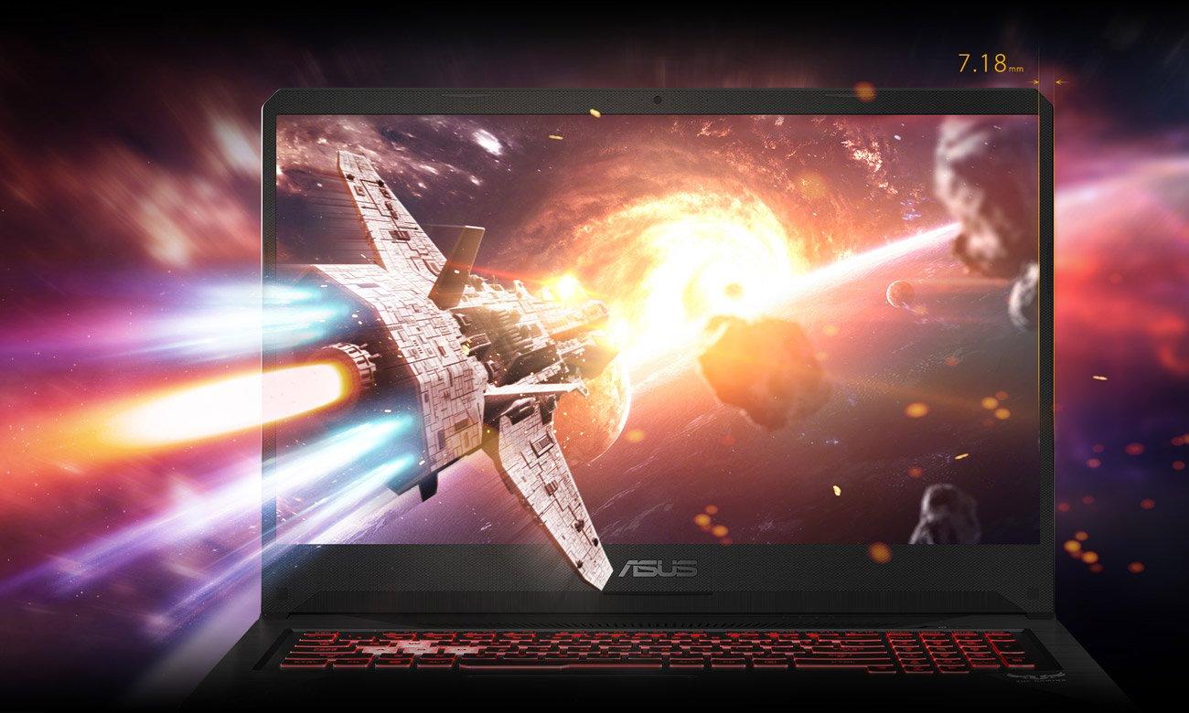 ASUS TUF Gaming FX705 Płynna rozgrywka na ekranie NanoEdge IPS