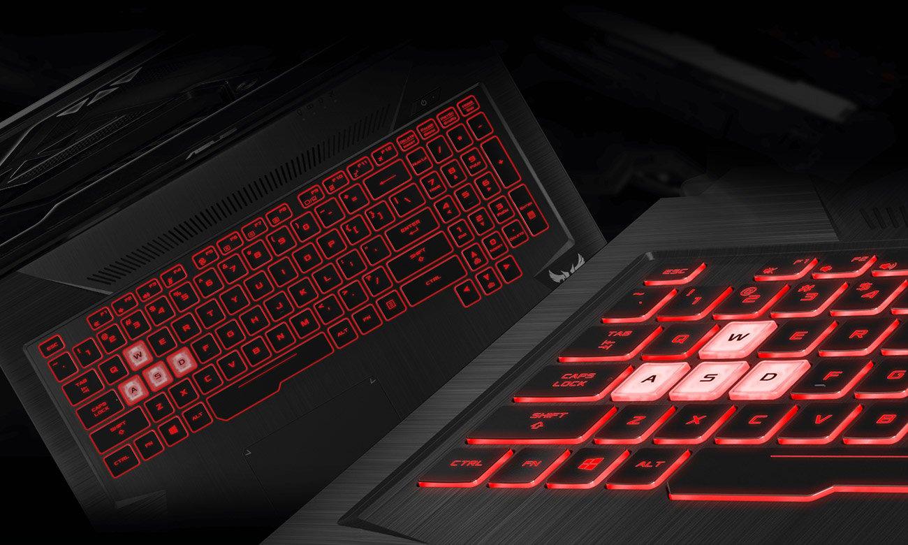 ASUS TUF Gaming FX705 Podświetlana, gamingowa klawiatura