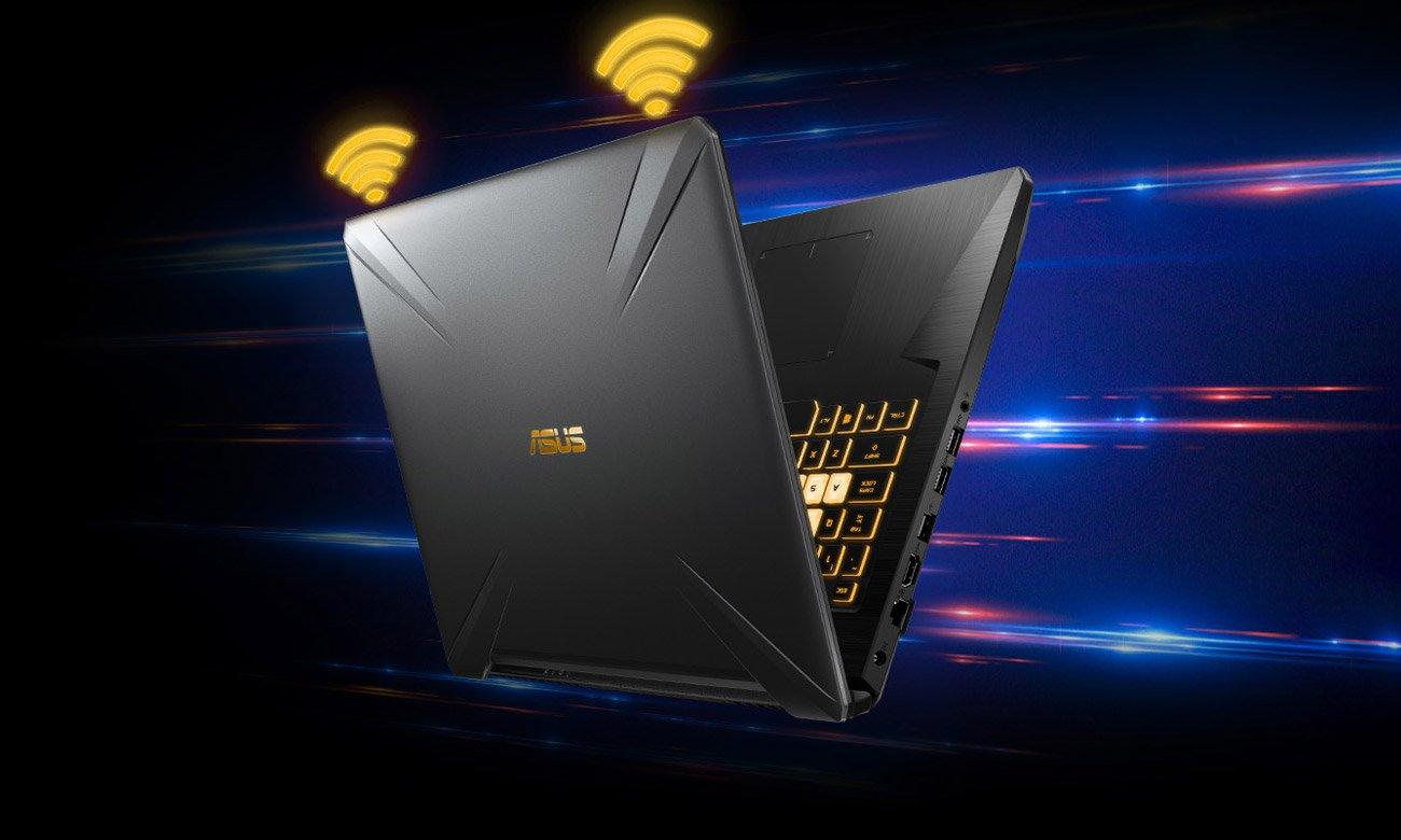 ASUS TUF Gaming FX705 Szybsze prędkości i szerszy zasięg Wi-Fi
