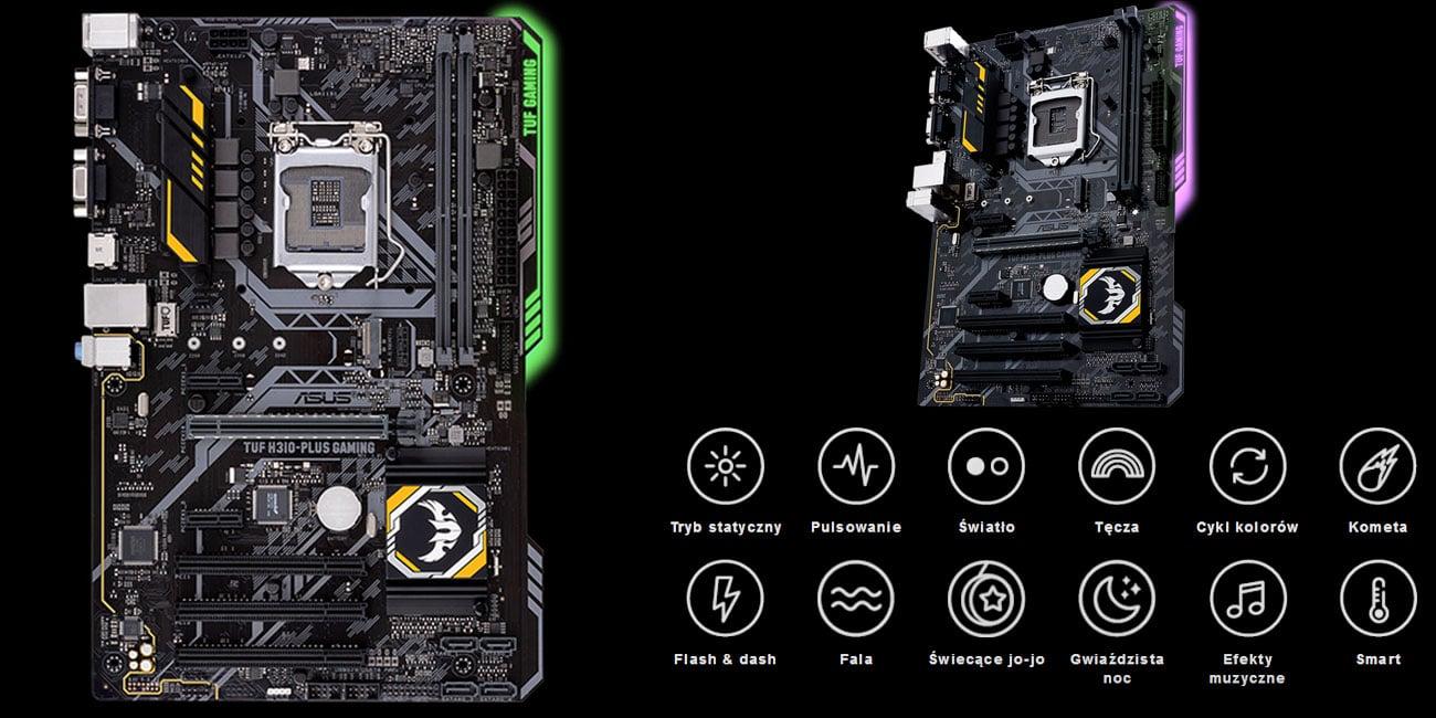 ASUS TUF H310-Plus Gaming Oświetlenie ASUS Aura