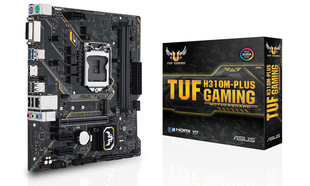 ASUS TUF H310M-Plus Gaming Gamingowa płyta z oświetleniem LED RGB Aura Sync