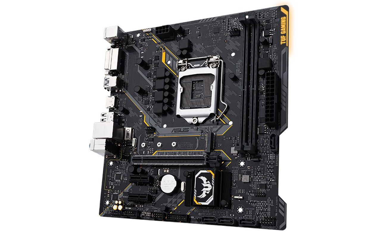 ASUS TUF H310M-Plus Gaming Udoskonalona stabilność pamięci DDR4 ASUS OptiMem