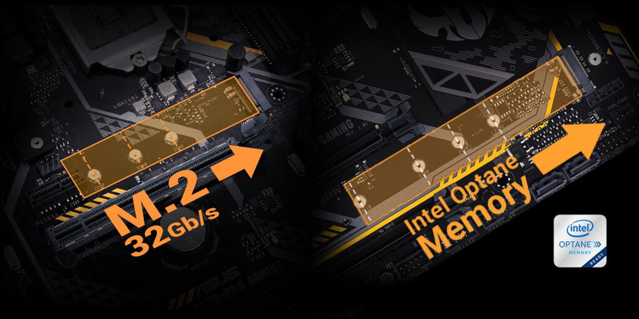 ASUS TUF H370-PRO GAMING Zintegrowane gniazdo M.2 Kompatybilność z Intel Optane