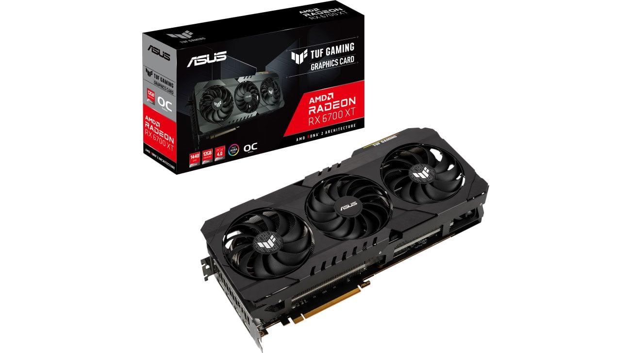 Karta graficzna AMD ASUS Radeon RX 6700 XT TUF GAMING OC 12GB GDDR6 TUF-RX6700XT-O12G-GAMING