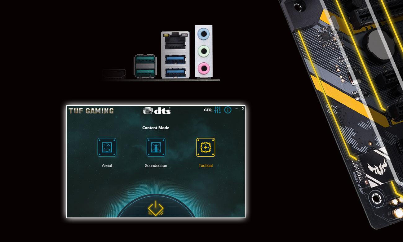ASUS TUF Z370-PLUS GAMING II Układ audio, oprogramowanie DTS