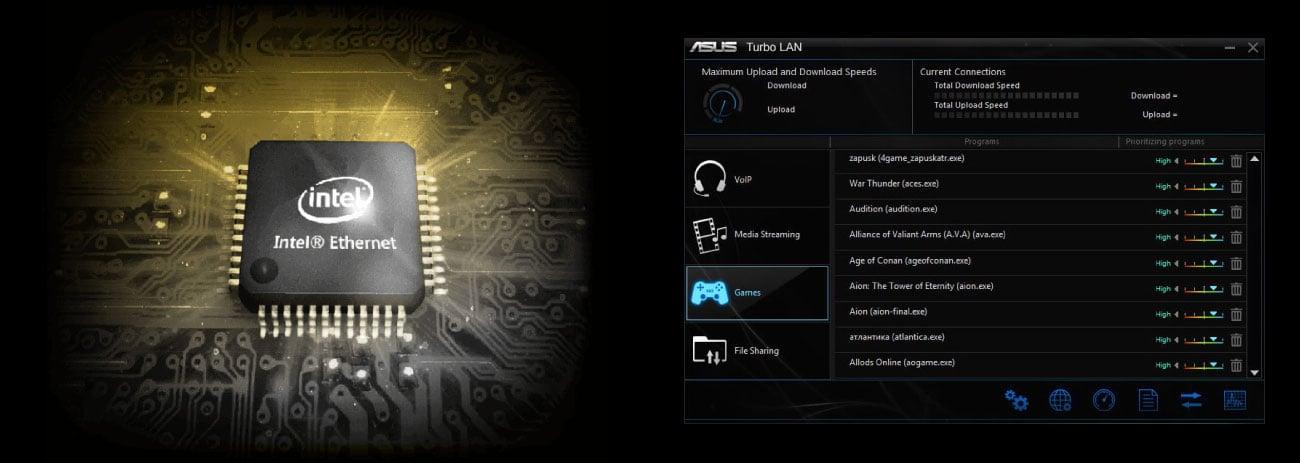 ASUS TUF Z390-PRO GAMING Sieć Intel LAN