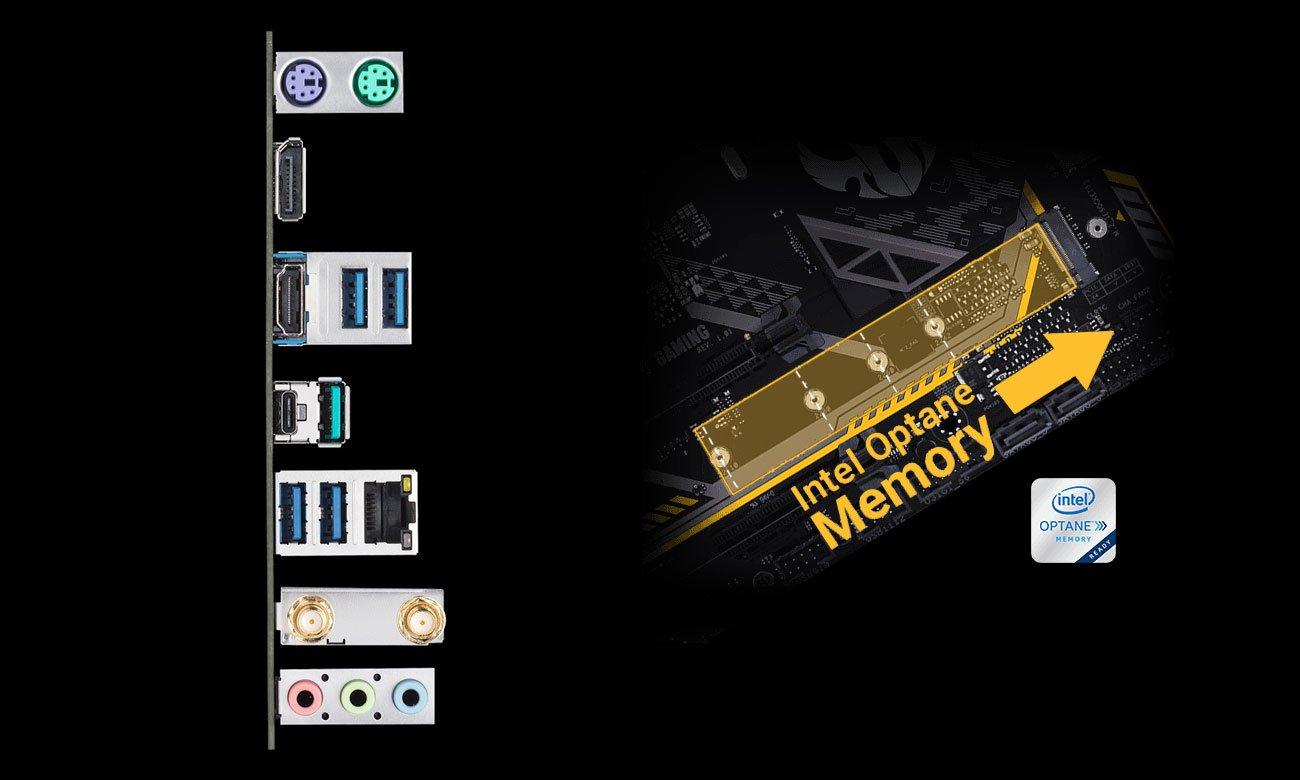 ASUS TUF Z390M-PRO GAMING (WI-FI) Złącza USB i M.2