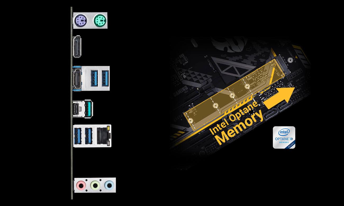 ASUS TUF Z390M-PRO GAMING Złącza USB i M.2