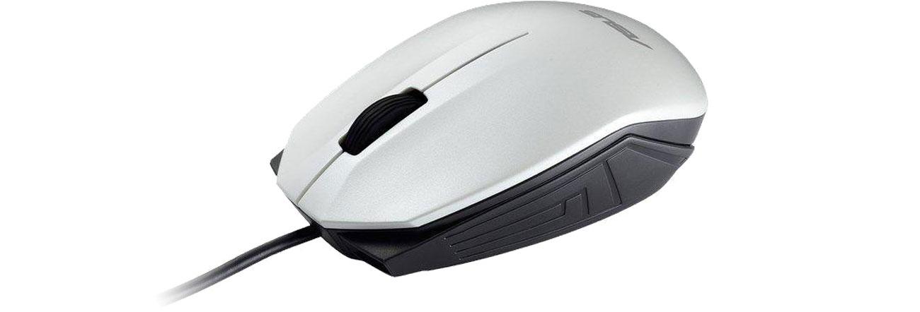 Die kabelgebundene optische Maus mit einem ergonomischen Design ASUS Tasche Nereus Carry Bag 16 Zoll UT280 weiß 90XB4000BA00010 90XB01EN BMU030