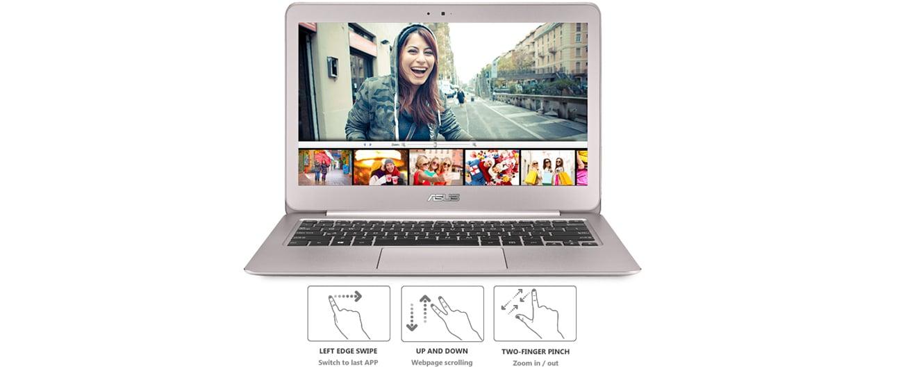 ASUS ZenBook UX306UA intuicyjny touchpad smart gesture