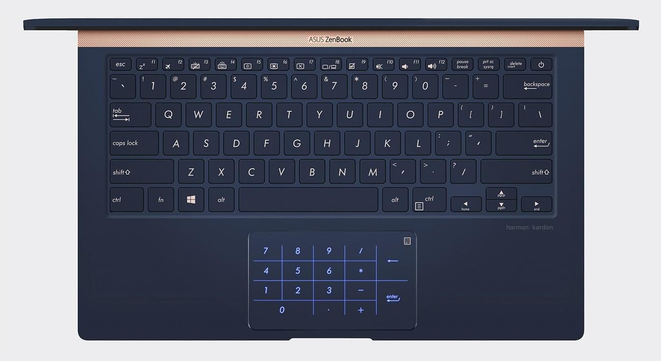 ASUS ZenBook UX433FN klawiatura produktywność