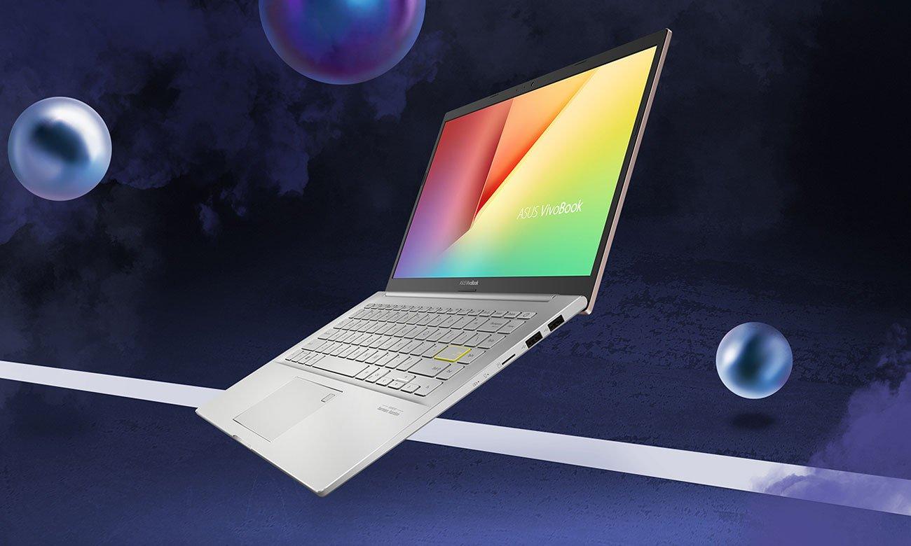 ASUS VivoBook 14 K413 klawiatura i ekran