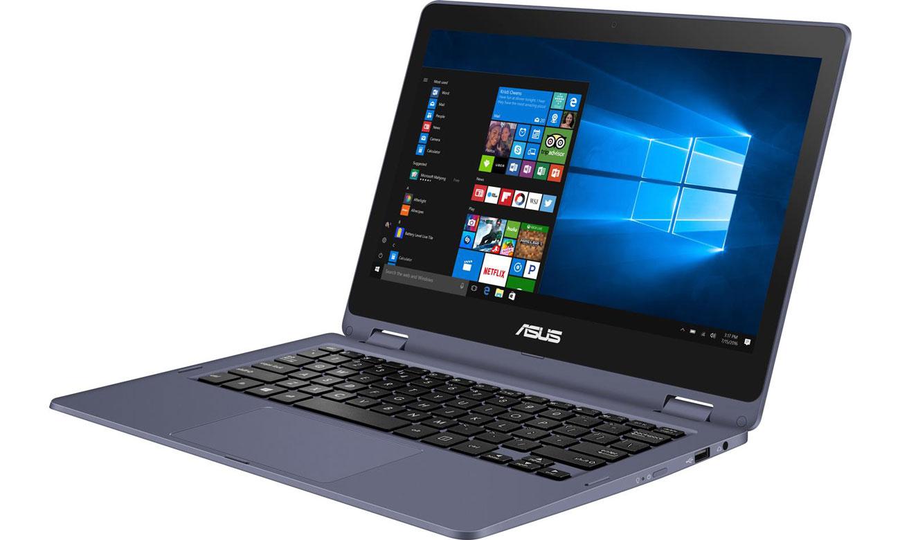 Laptop z dotykową matrycą