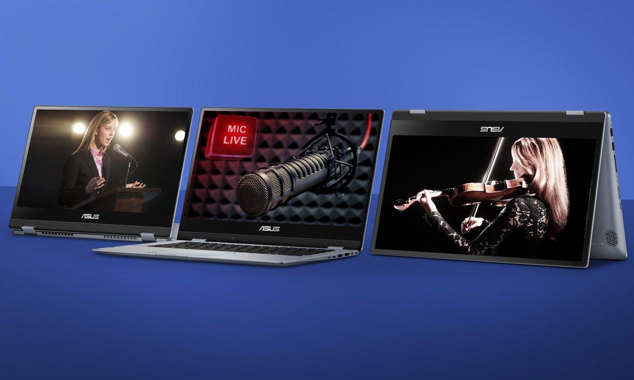 ASUS VivoBook Flip 14 TP412UA Niesamowite wrażenia dźwiękowe