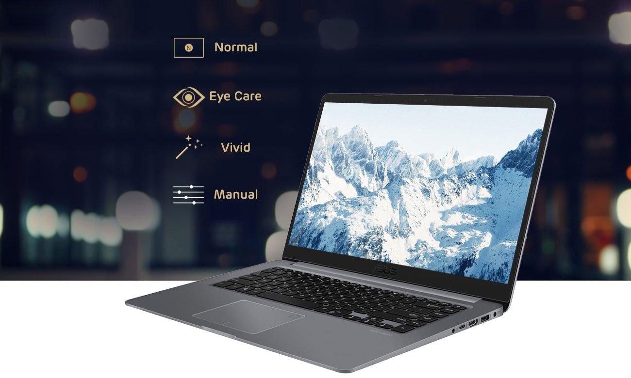ASUS VivoBook S15 S510UN Optymalizacja wizualna kolorów