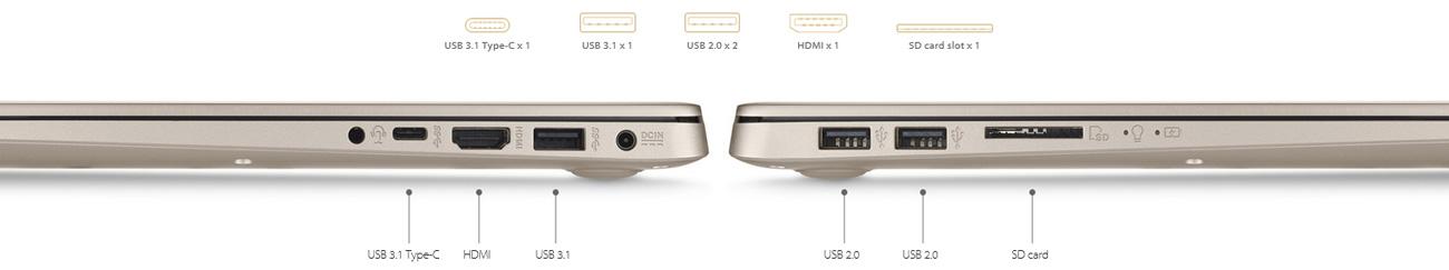 ASUS VivoBook S15 S510UQ łączność usb typu-c