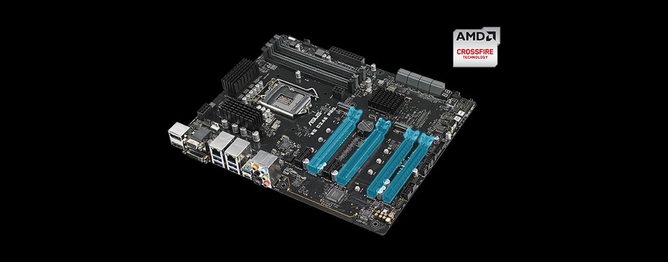 ASUS WS C246 PRO Cztery sloty PCIe