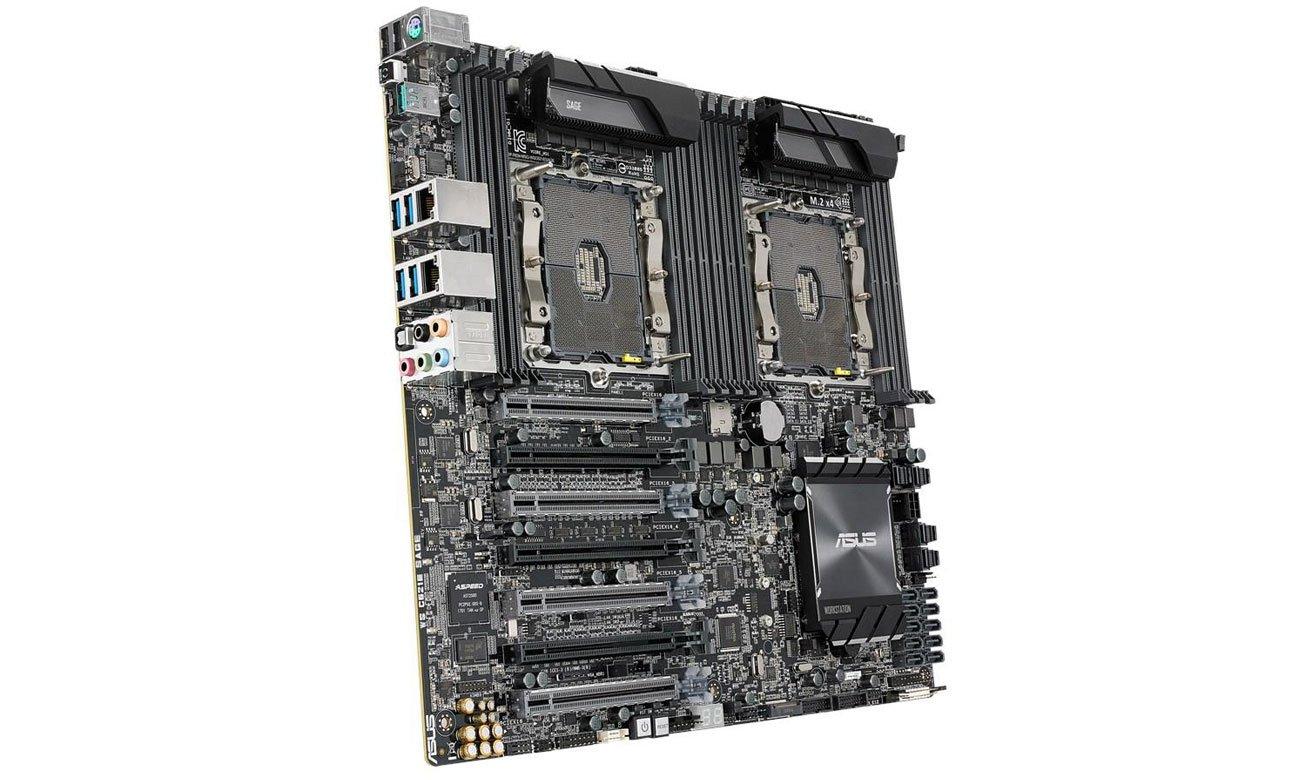 ASUS WS C621E SAGE Możliwośc instalacji czterech kart graficznych