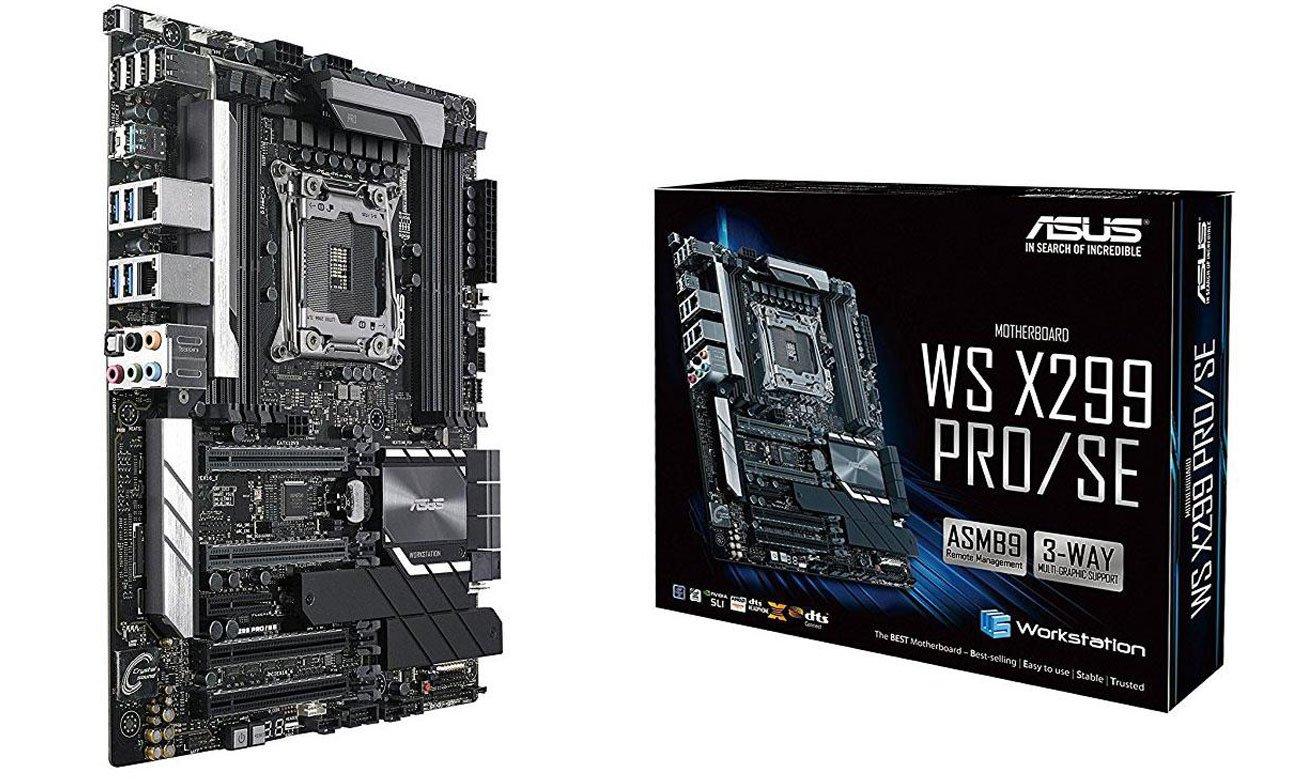 ASUS WS X299 PRO/SE Płyta główna z ultrawydajnym radiatorem VRM
