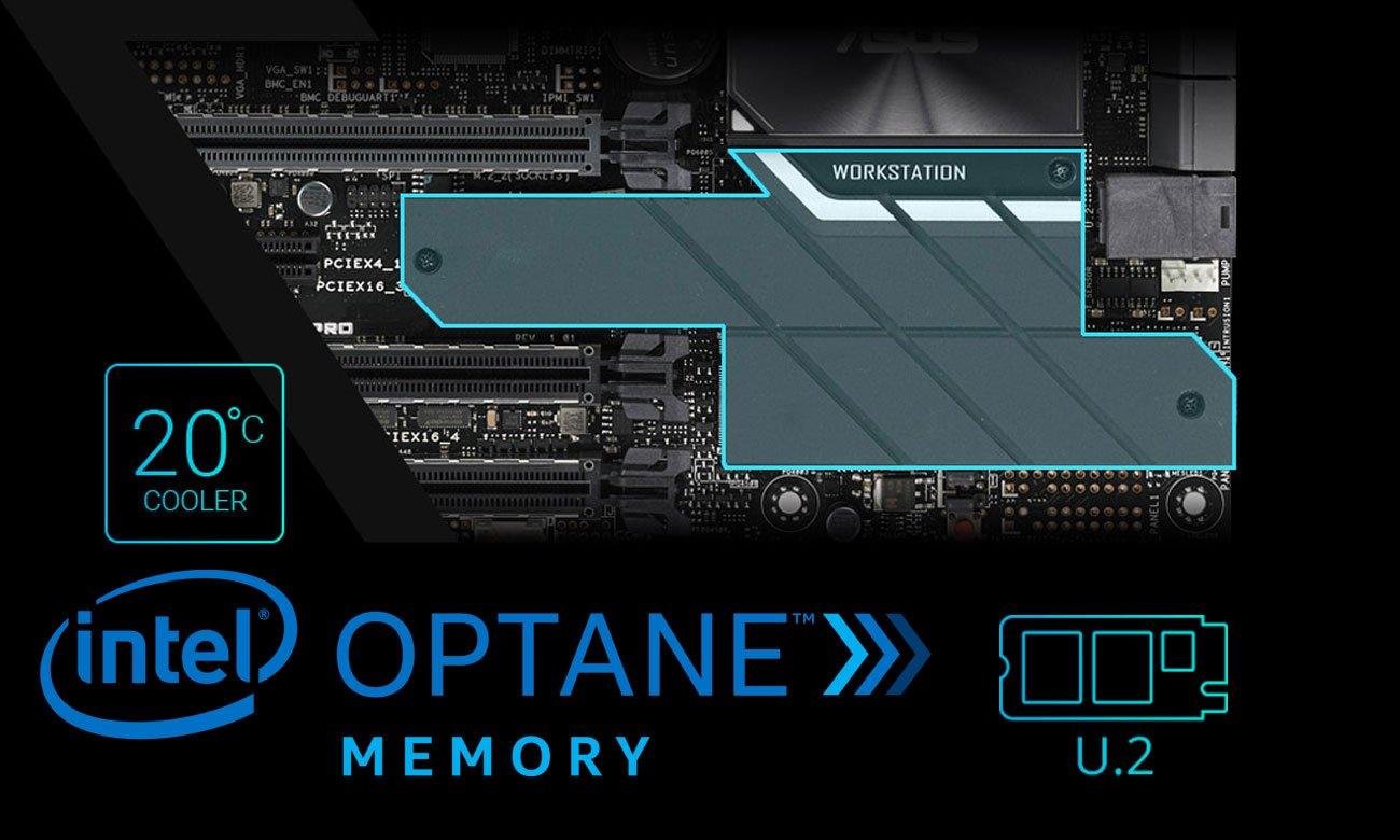 ASUS WS X299 PRO Intel Optane, dwa zintegrowane gniazda M.2 i gniazdo U.2