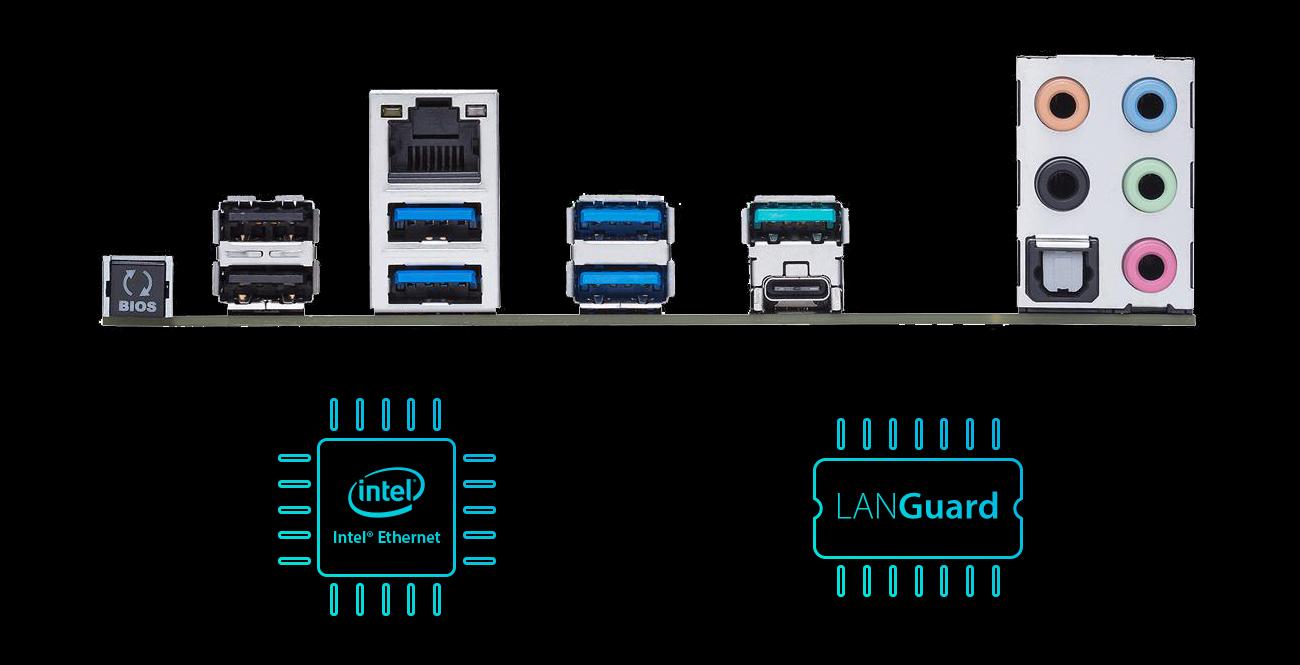 ASUS PRIME X299-A Sieć Intel Ethernet