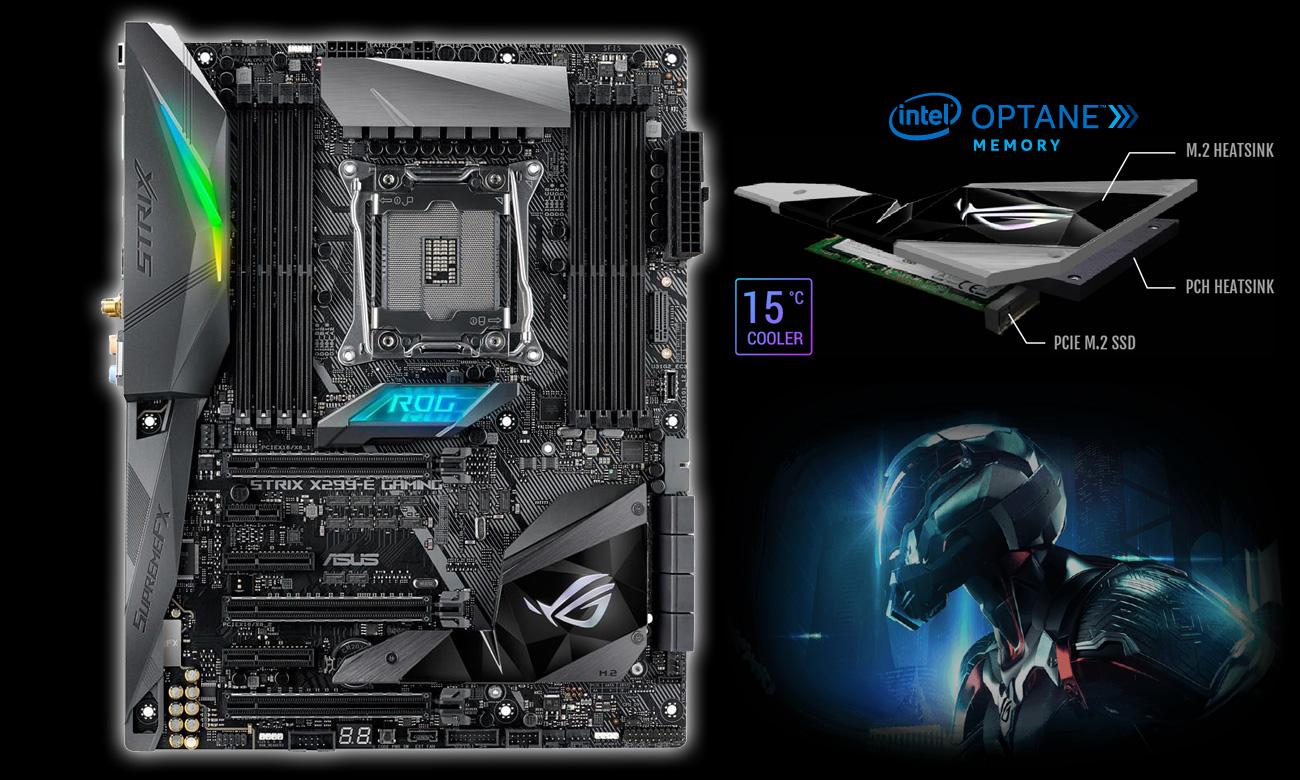 ASUS STRIX X299-E Gaming Wydajna pamięć M.2 Intel O