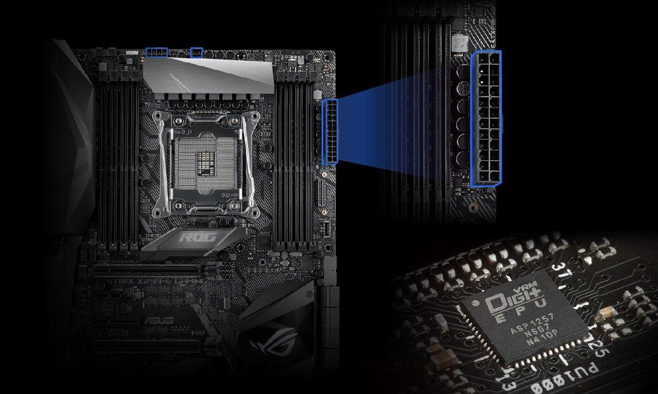 ASUS STRIX X299-E Gaming Stabilna praca i zasilanie