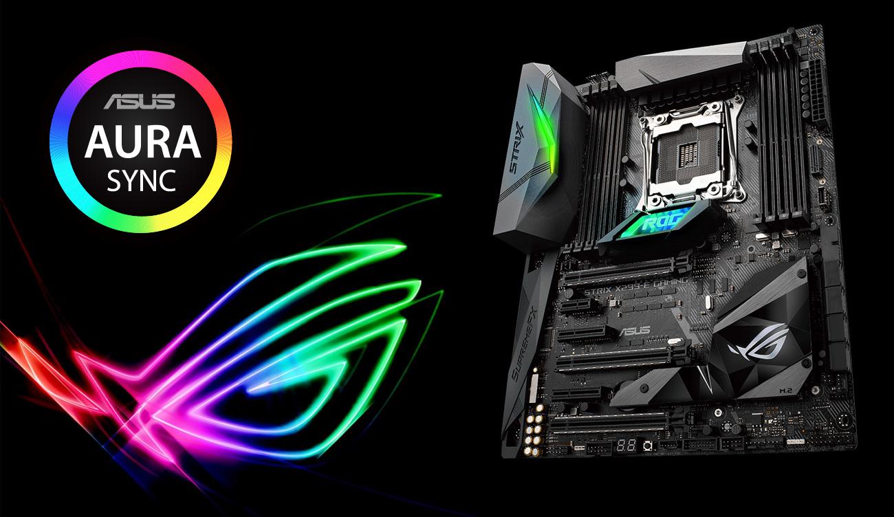 ASUS STRIX X299-E Gaming Podświetlenie ASUS Aura Sync
