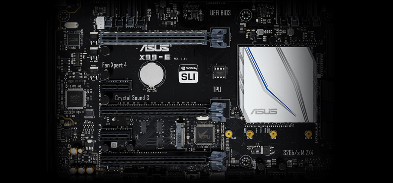 ASUS X99-E obsługa wielu kart graficznych