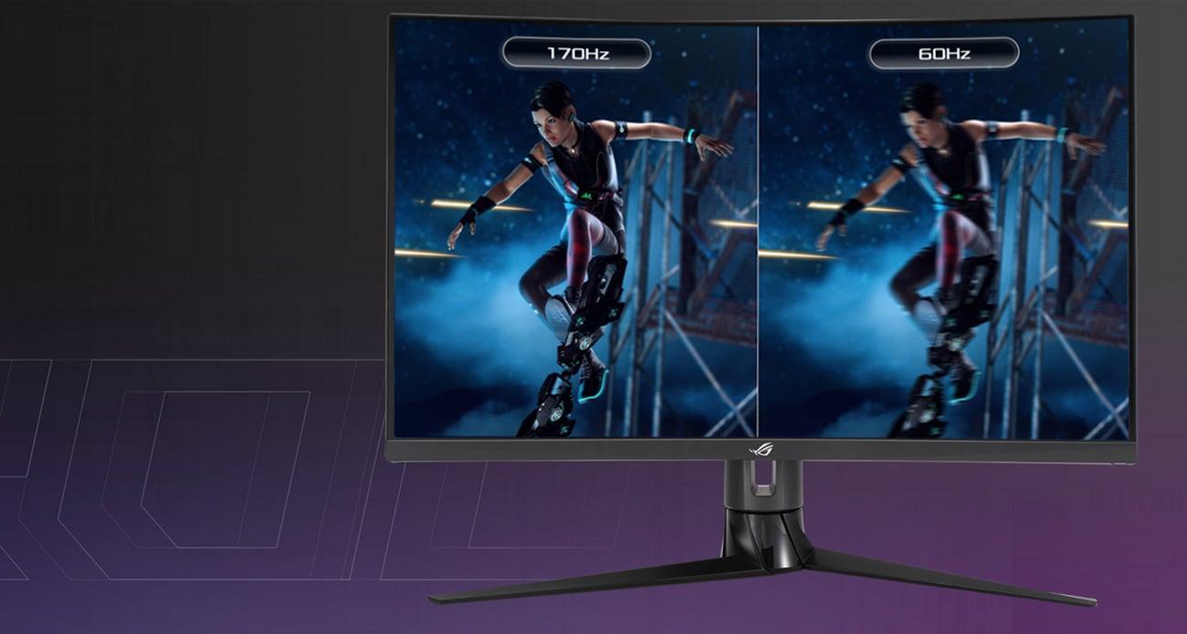 Niesamowicie szybkie odświeżanie ekranu 170 Hz