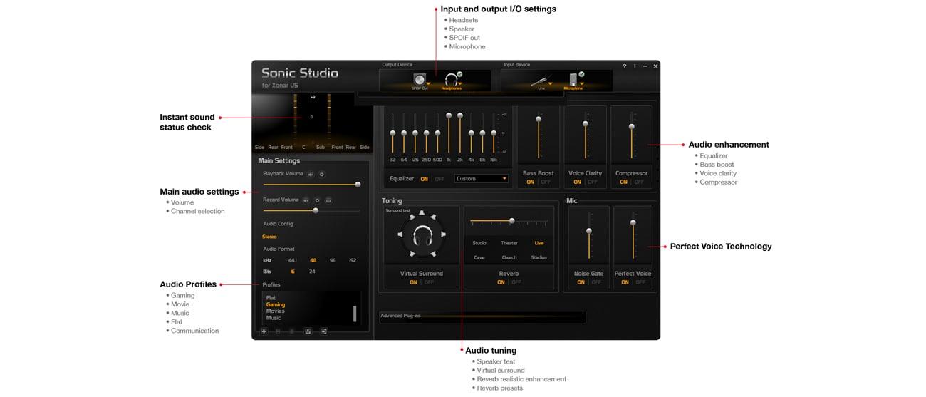 Karta muzyczna ASUS Xonar U5 USB - Sonic Studio