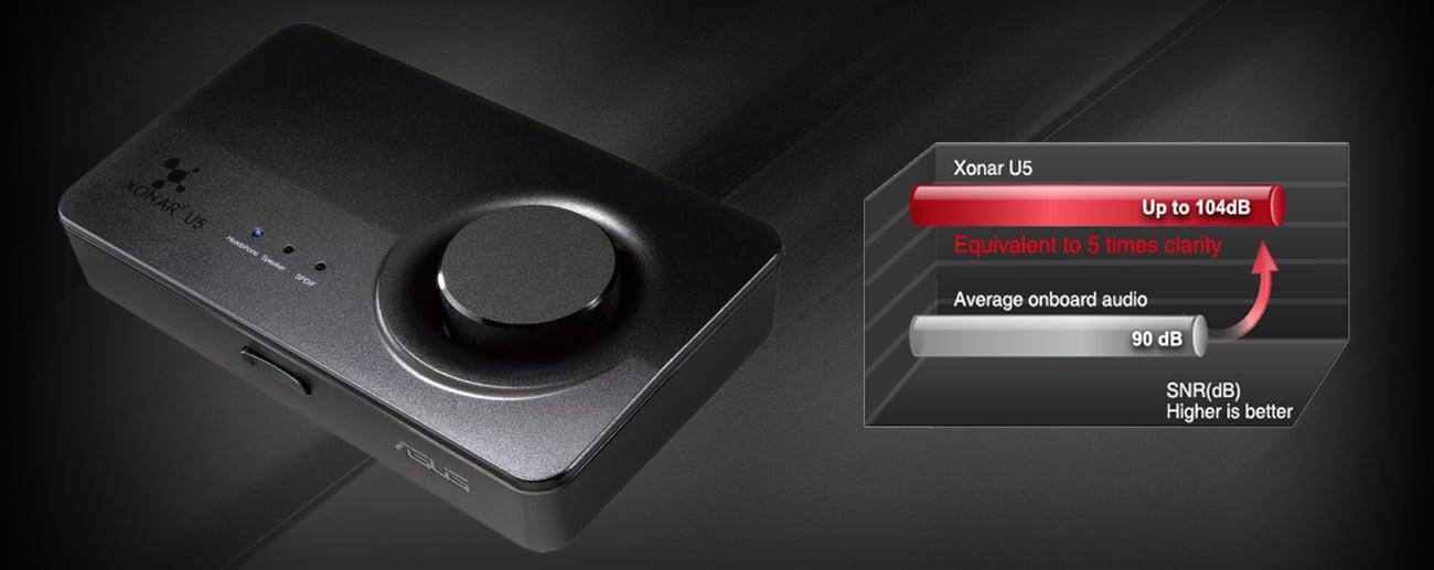 Karta muzyczna ASUS Xonar U5 USB - Doskonała jakość dźwięku